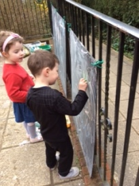 Busy writing outside!