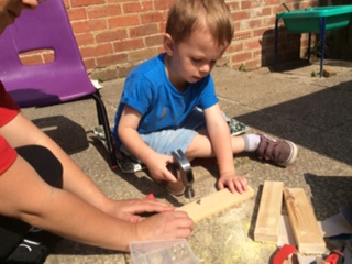 Learning important safey and woodwork skills